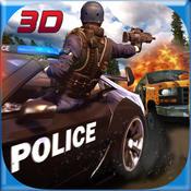 爬山警察VS犯罪分子汽车射击3D游戏