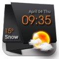 3d时钟天气固体黑色手机版app v3.1