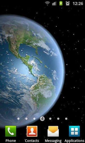 3D高清地球旋转动态壁纸图片图1