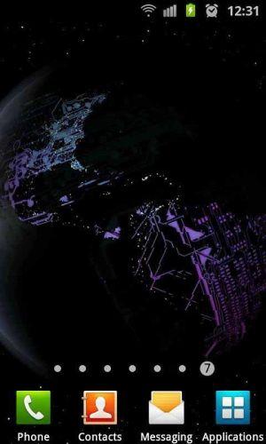 3D高清地球旋转动态壁纸图片图5
