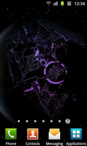 3D高清地球旋转动态壁纸图片图7