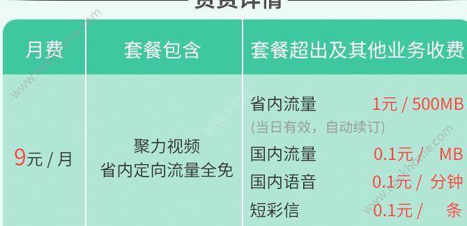 聚力视频聚力卡定向免流9元流量套餐手机app申请入口图1: