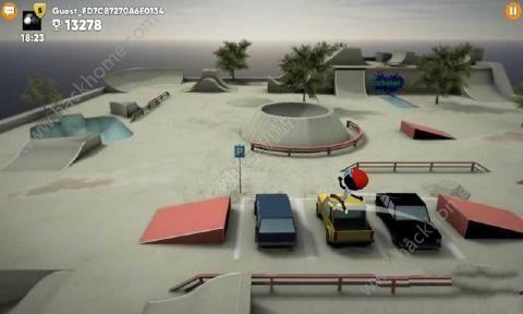 火柴人滑板之战无限金币中文破解版(Stickman Skate Battle)图2:
