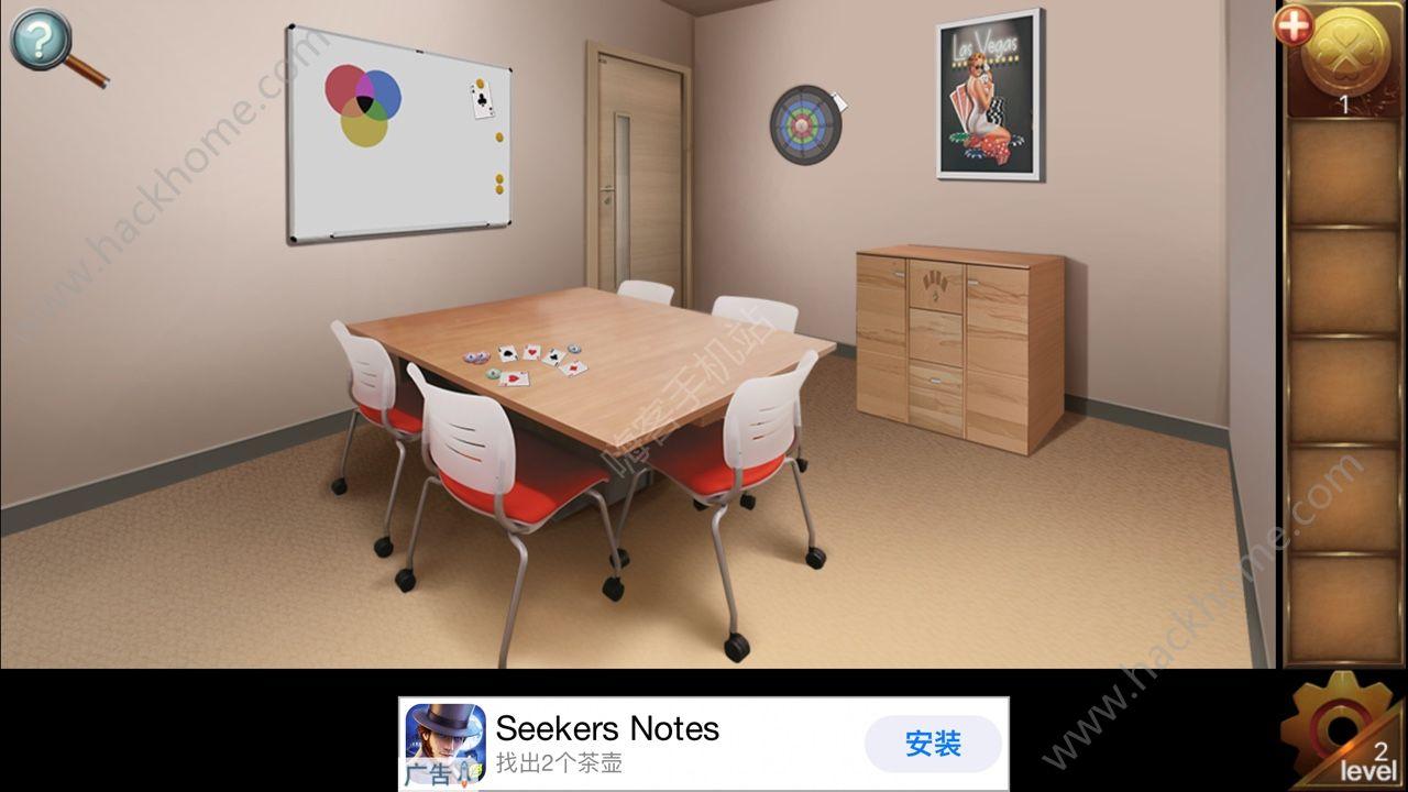 密室逃脱比赛2第二关攻略 扑克图文通关教程[多图]图片1