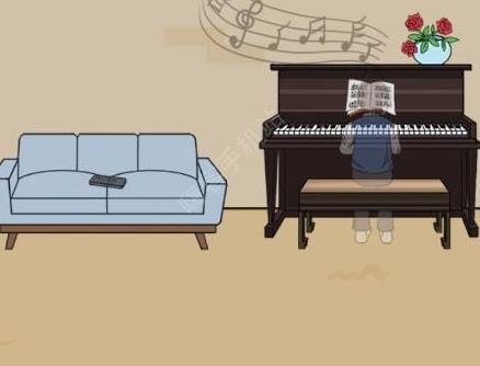 妈妈不让我看电视第22关攻略 钢琴谱图文通关教程[多图]