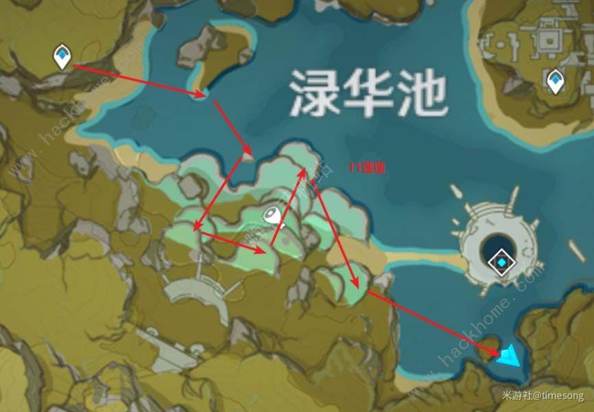 原神莲蓬在哪 莲蓬分布图一览[多图]图片3