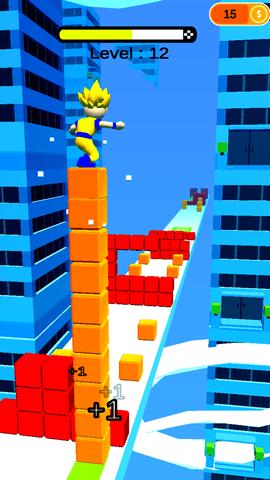 踩着方块跑酷的游戏IOS最新版图1: