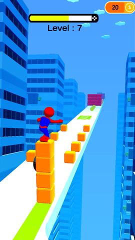 踩着方块跑酷的游戏IOS最新版图2: