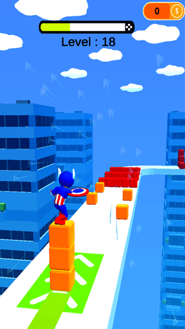 踩着方块跑酷的游戏IOS最新版图3:
