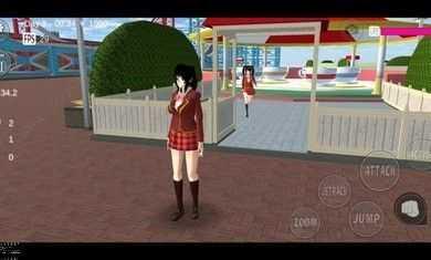 樱花校园模拟器更新女主家二楼中文汉化版图2: