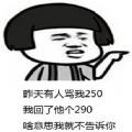 昨天有人骂我250我回了他个290表情包图片免费分享 v1.0