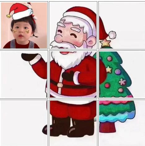 抖音最火2020九宫格图片 抖音圣诞老人九宫格图片高清分享[多图]