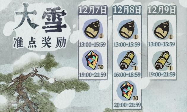 江南百景圖大雪準點獎勵活動大全 資源免費兌換獎勵一覽[多圖]