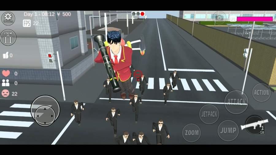 樱花校园模拟器全装扮最新破解版图1:
