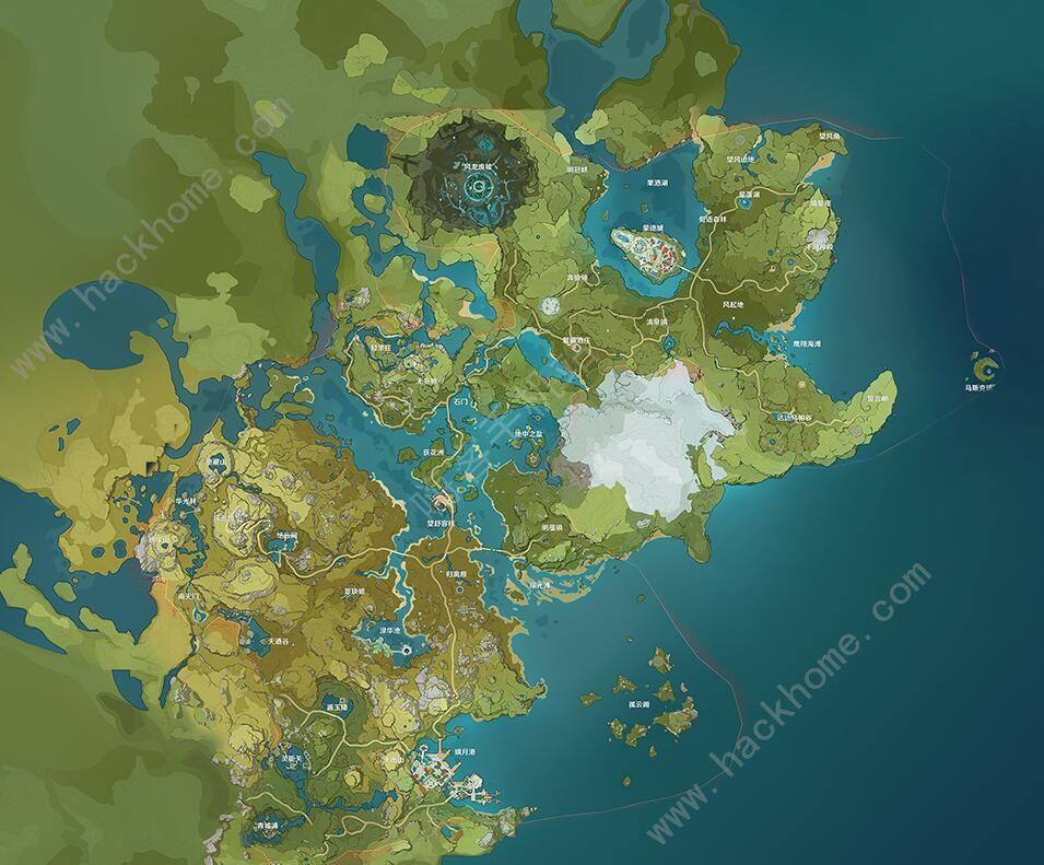 原神地图资源刷新点汇总 宝箱矿石等资源全开地图一览[多图]图片1
