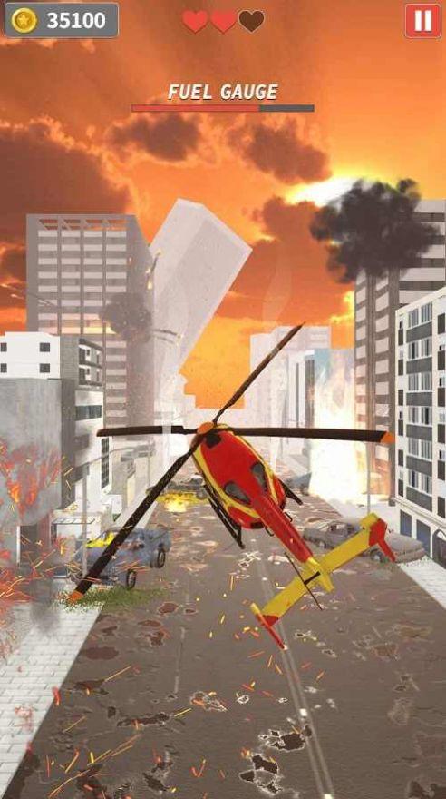 直升机逃生游戏无限金币破解版图片2